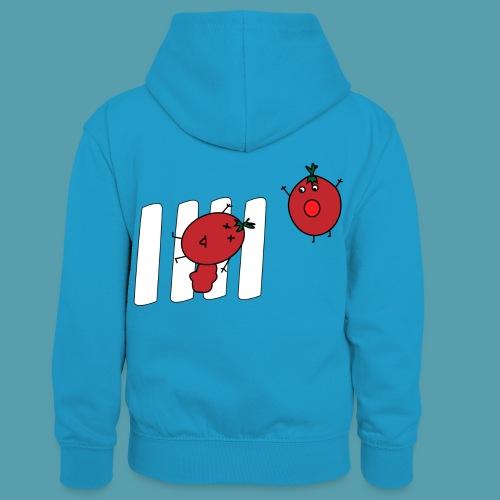 tomaatit - Lasten kontrastivärinen huppari