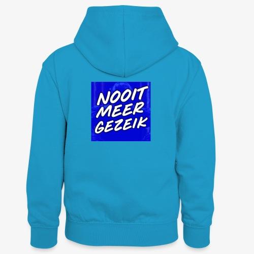 De 'Nooit Meer Gezeik' Merchandise - Teenager contrast-hoodie/kinderen contrast-hoodie