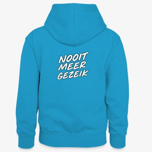 De 'Nooit Meer Gezeik' merchendise - Teenager contrast-hoodie/kinderen contrast-hoodie