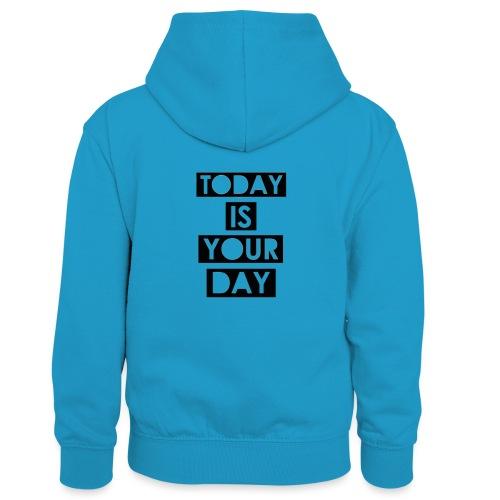 Official Design Kompas Today is your day - Teenager contrast-hoodie/kinderen contrast-hoodie