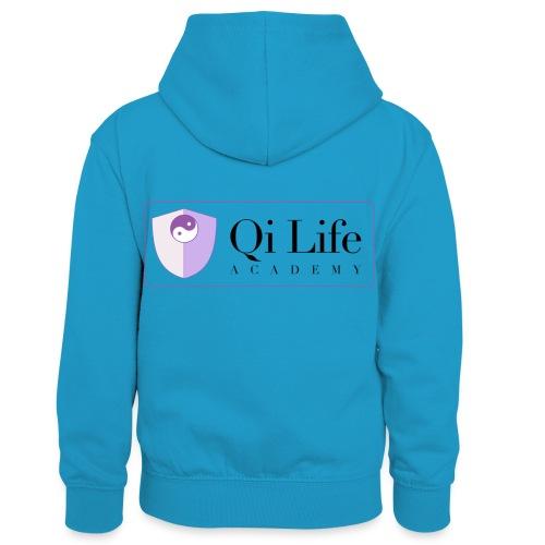 Qi Life Academy Promo Gear - Kids' Contrast Hoodie