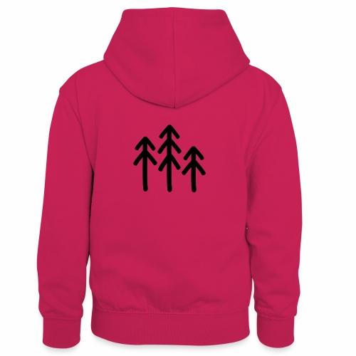 RIDE.company - just trees - Kinder Kontrast-Hoodie