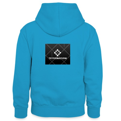 my youtube channle march - Kids' Contrast Hoodie