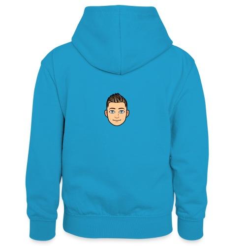 Dex 1 - Dziecięca bluza z kontrastowym kapturem