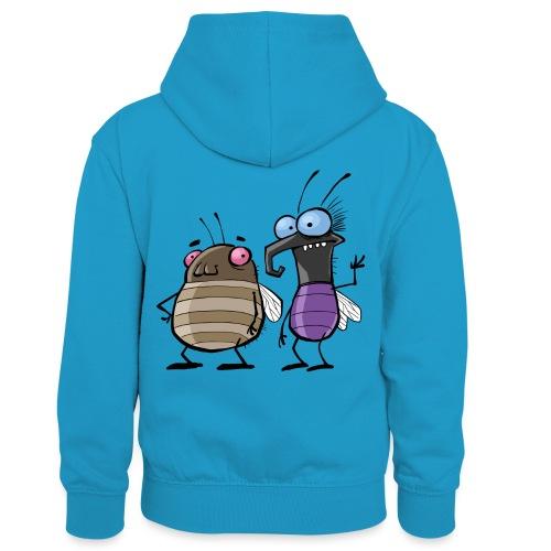 Teenager Premium Langarmshirt Insekten - Kinder Kontrast-Hoodie