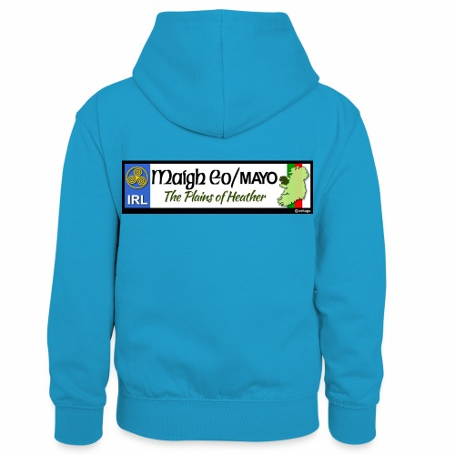 CO. MAYO, IRELAND: licence plate tag style decal - Kids' Contrast Hoodie