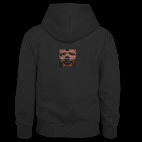 Why be a king when you can be a god - Kids' Contrast Hoodie