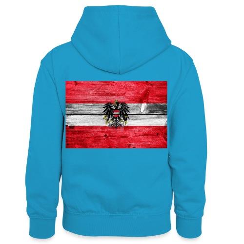 Austria Holz - Kinder Kontrast-Hoodie