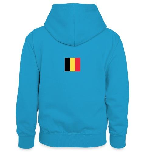 vlag be - Teenager contrast-hoodie/kinderen contrast-hoodie