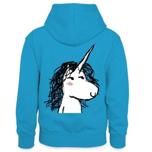 The Unicorn Kaede - Felpa con cappuccio in contrasto cromatico per bambini