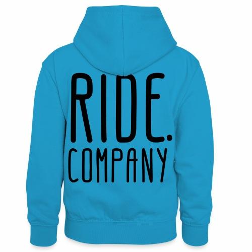 RIDE.company - just RIDE - Kinder Kontrast-Hoodie