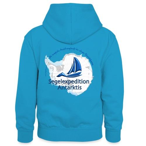 segelexpedition antarktis3 - Kinder Kontrast-Hoodie
