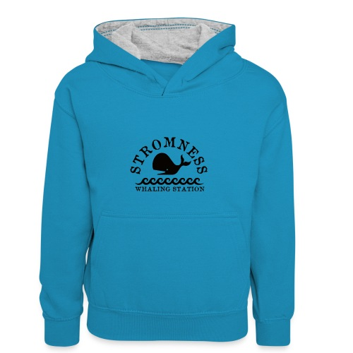 Sromness Whaling Station - Kids' Contrast Hoodie
