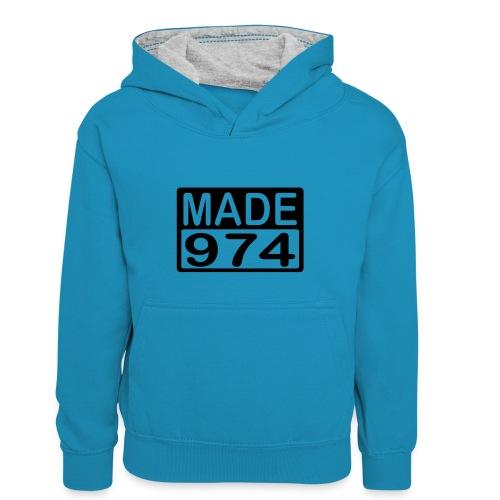 Made 974 - v1 - Sweat à capuche contrasté Enfant