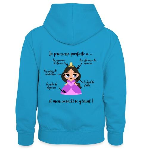 Princesse parfaite - Sweat à capuche contrasté Enfant