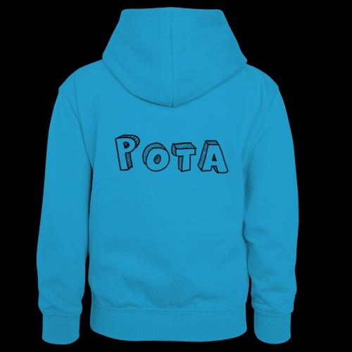 pota1 - Felpa con cappuccio in contrasto cromatico per bambini