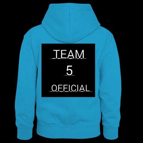 Team5 official 1st merchendise - Kids' Contrast Hoodie