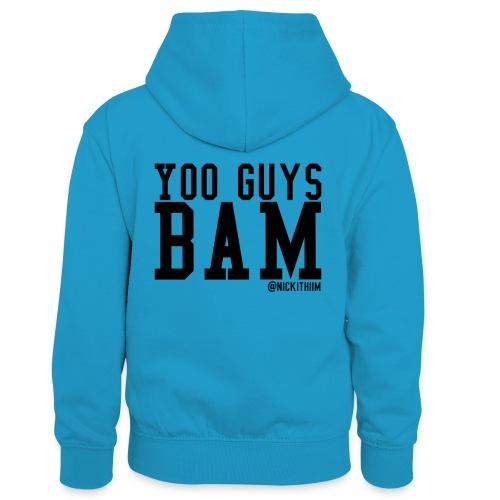 BAM! - Kinder Kontrast-Hoodie