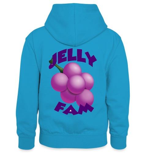 JellySquad - Kontrasthoodie børn
