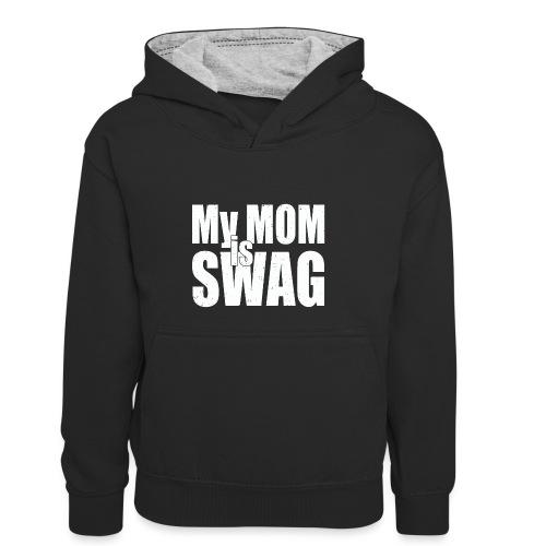 Swag White - Teenager contrast-hoodie/kinderen contrast-hoodie