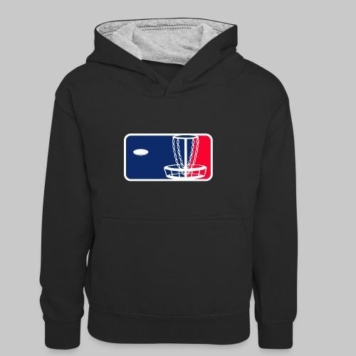 Major League Frisbeegolf - Lasten kontrastivärinen huppari