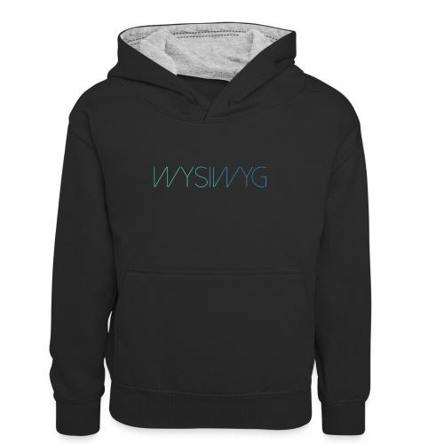 WYSIWYG - Teenager contrast-hoodie/kinderen contrast-hoodie