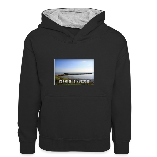 Rather be in Wexford - Kids' Contrast Hoodie