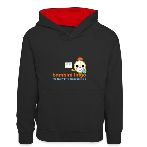 bambini lingo - the lovely little language club - Kids' Contrast Hoodie