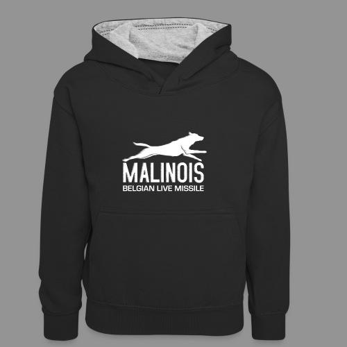 Belgian shepherd Malinois - Kids' Contrast Hoodie