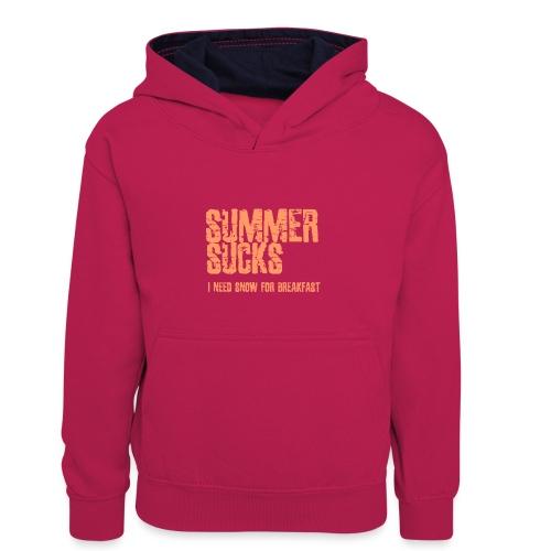 SUMMER SUCKS - Teenager contrast-hoodie/kinderen contrast-hoodie
