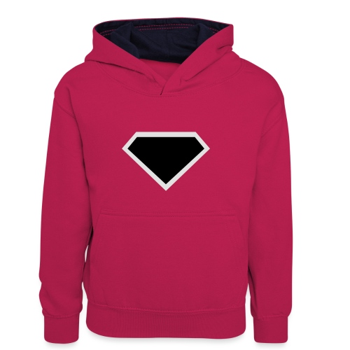 Diamond Black - Two colors customizable - Teenager contrast-hoodie/kinderen contrast-hoodie