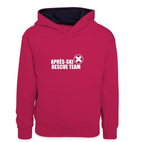APRÈS SKI RESCUE TEAM 2 - Teenager contrast-hoodie/kinderen contrast-hoodie