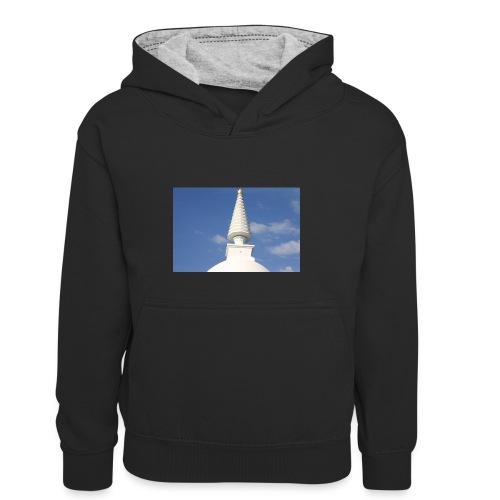 Stupa in Zalaszántó [2] - Kinder Kontrast-Hoodie