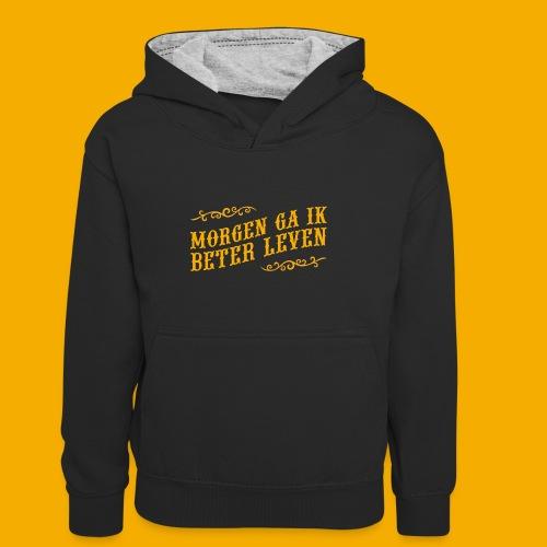 tshirt yllw 01 - Teenager contrast-hoodie/kinderen contrast-hoodie