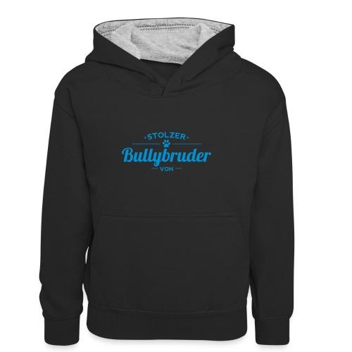 Bullybruder Wunschname - Kinder Kontrast-Hoodie