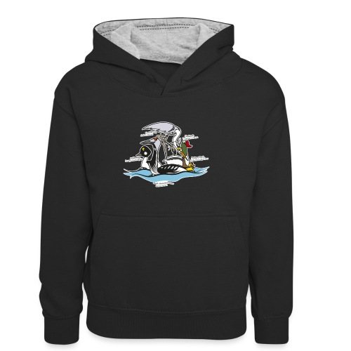 Birds of a Feather - Kids' Contrast Hoodie