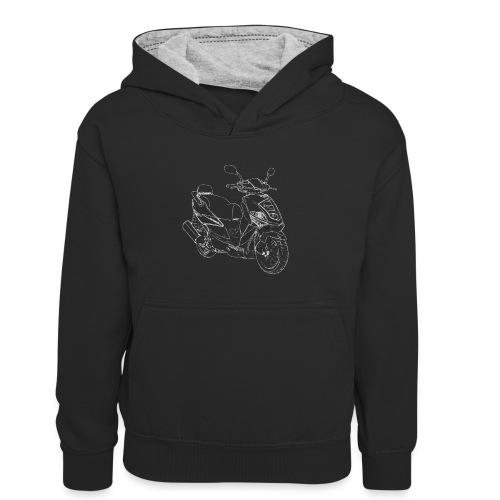 snm daelim othello sport outline w png - Kinder Kontrast-Hoodie