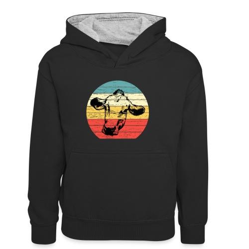 Cow - Teenager contrast-hoodie/kinderen contrast-hoodie