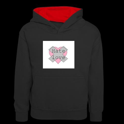 Hate love - Sudadera con capucha para niños