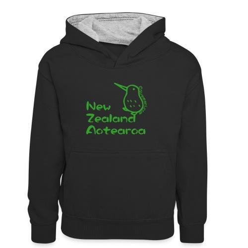 New Zealand Aotearoa - Kids' Contrast Hoodie