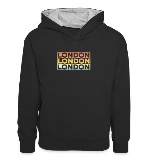 Vintage London Souvenir - Retro SehnsuchtLondon - Kinder Kontrast-Hoodie
