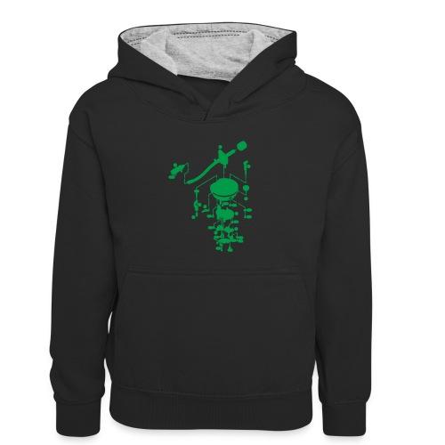 tonearm05 - Teenager contrast-hoodie/kinderen contrast-hoodie