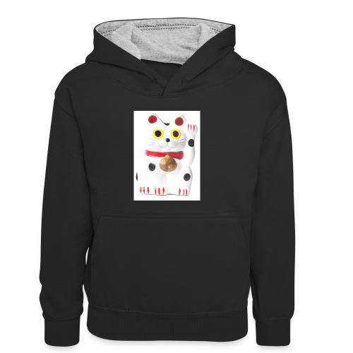 luckycat - Kids' Contrast Hoodie