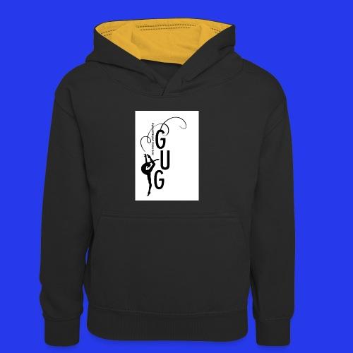 GUG Logo - Kinder Kontrast-Hoodie