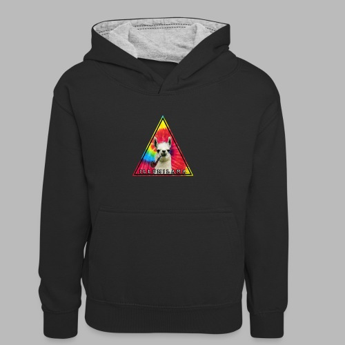 Illumilama logo T-shirt - Kids' Contrast Hoodie