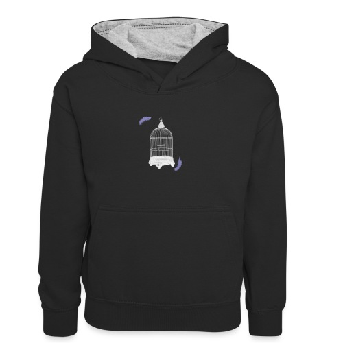 Trapped Inside - Kids' Contrast Hoodie