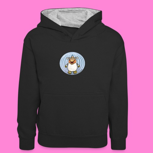 Halloween-sheep - Teenager contrast-hoodie/kinderen contrast-hoodie