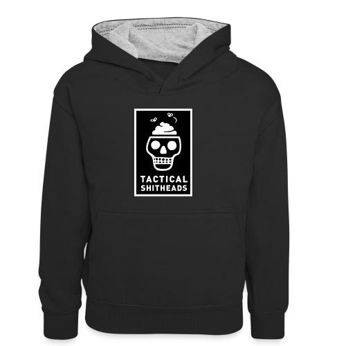 Tacshit Shitheadskull - Kinder Kontrast-Hoodie
