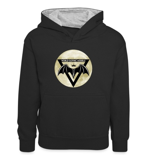 WGM Logo + Different is Beautiful   2 Sided Design - Kids' Contrast Hoodie