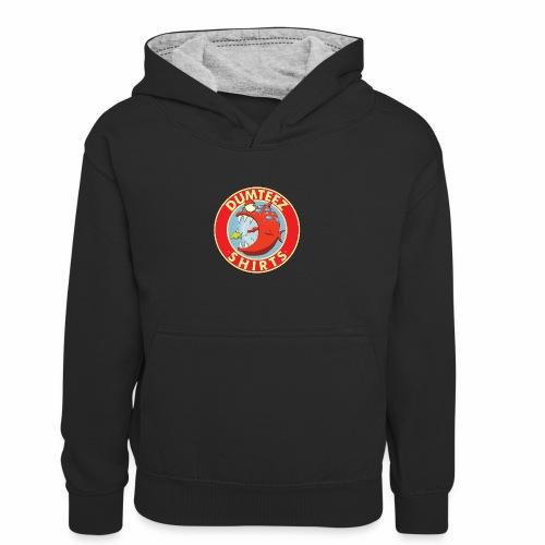 Dumteez fish - Teenager contrast-hoodie/kinderen contrast-hoodie